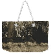 Grosse Point Lighthouse Sepia Weekender Tote Bag