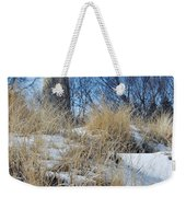 Grosse Point Lighthouse Winter Dunes Weekender Tote Bag