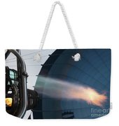Ground Crew Preparing A Hot Air Balloon Before Takeoff Weekender Tote Bag