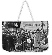 Groundbreaking Ceremony Weekender Tote Bag