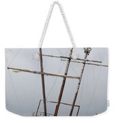 Grounded Ship In Frozen Water Weekender Tote Bag