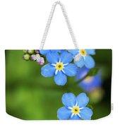 Group Of Blue Flowers Forget-me-not Weekender Tote Bag