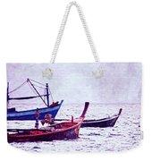Group Of Fishing Boats Weekender Tote Bag
