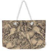 Group Of Seven Horses In Woods Weekender Tote Bag