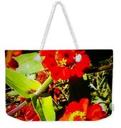 Group Of Small Red Zinnia's Weekender Tote Bag