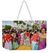 Group Of Young Female Students Dressed In Flamenco Dresses At Th Weekender Tote Bag
