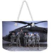 Group Photo Of Uh-60 Black Hawk Pilots Weekender Tote Bag