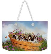 Growing Puppies Weekender Tote Bag