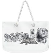 Growing Up Chinese Shar-pei Weekender Tote Bag by Barbara Keith