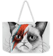 Grumpy Cat As David Bowie Weekender Tote Bag