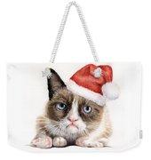 Grumpy Cat As Santa Weekender Tote Bag