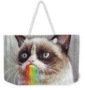 Grumpy Cat Tastes The Rainbow Weekender Tote Bag