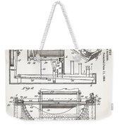 Grundy Typewriter Patent 1889 Weekender Tote Bag
