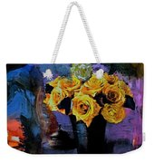 Grunge Friendship Rose Bouquet With Candle By Lisa Kaiser Weekender Tote Bag