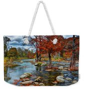 Guadalupe River In Autumn Weekender Tote Bag