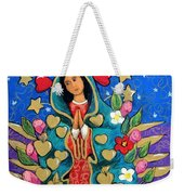 Guadalupe With Stars Weekender Tote Bag