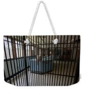 Guard Desk Inside Prison Cellblock Weekender Tote Bag