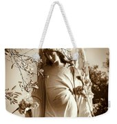 Guardian Angel Bw Weekender Tote Bag