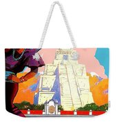 Guatemala City, Woman In Traditional Costume With Vase On Her Head Weekender Tote Bag