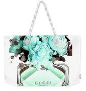 Gucci Blue Perfume Weekender Tote Bag