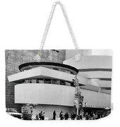 Guggenheim Museum Nyc Bw Weekender Tote Bag