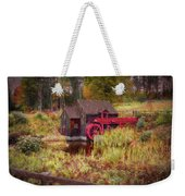Guildhall Grist Mill In Fall Weekender Tote Bag