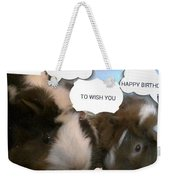 Guinea Pig Love And Bday Wishes Weekender Tote Bag