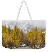 Guisane Valley In Autumn - French Alps Weekender Tote Bag