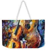 Guitar And Violin Weekender Tote Bag