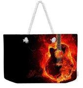 Guitar On Fire Weekender Tote Bag