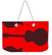 Guitar Silhouette Background Weekender Tote Bag