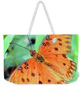 Gulf Fritillary Butterfly Cropped Weekender Tote Bag