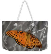Gulf Fritillary Butterfly In The Brambles Weekender Tote Bag