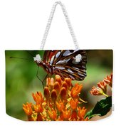 Gulf Fritillary On Butterflyweed Weekender Tote Bag
