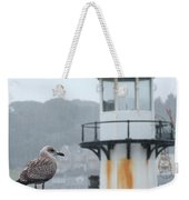 Gull And Lighthouse Weekender Tote Bag