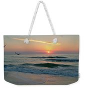 Gulls On The Gulf At Sunset Weekender Tote Bag