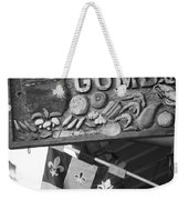 Gumbo Sign - Black And White Weekender Tote Bag