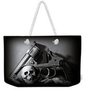 Gun And Skull Weekender Tote Bag
