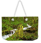 Gushing Through Ferns And Forest Weekender Tote Bag