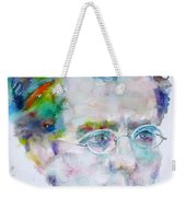 Gustav Mahler - Watercolor Portrait.3 Weekender Tote Bag