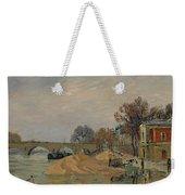 Gustave Loiseau 1865 - 1935 Marie Bridge In Paris Weekender Tote Bag