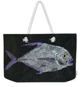 Gyotaku African Pompano Weekender Tote Bag by Captain Warren Sellers