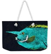 Gyotaku Mu Mu Weekender Tote Bag by Captain Warren Sellers