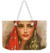Gypsy Girl Portrait Weekender Tote Bag