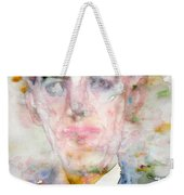 H. P. Lovecraft - Watercolor Portrait.3 Weekender Tote Bag