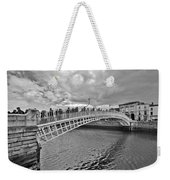 Ha' Penny Bridge In Black And White Weekender Tote Bag