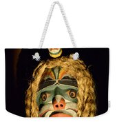 Haida Carved Wooden Mask 4 Weekender Tote Bag