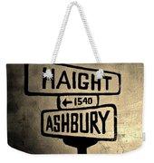 Haight Ashbury Weekender Tote Bag