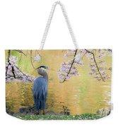 Haiku, Heron And Cherry Blossoms Weekender Tote Bag