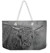 Hairy Highlander Bw Weekender Tote Bag
